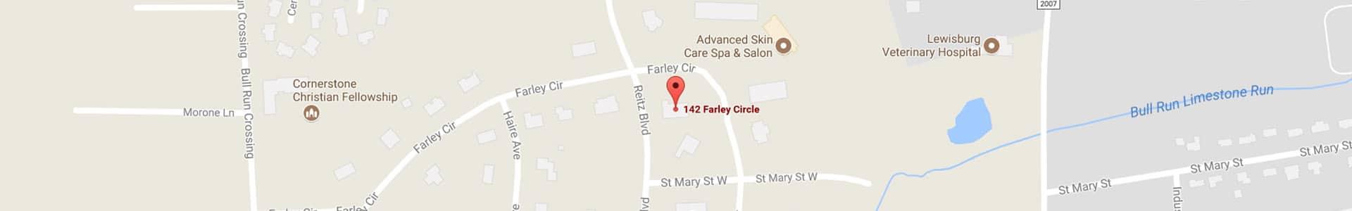 Footer Map Hover Albert Stush Jr DMD in Lewisburg PA